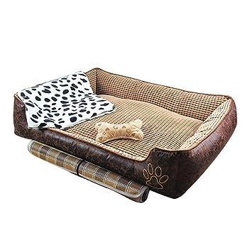 Yiiquan - Colchoneta para mascotas, perro, gato, caseta, lavable, cálida, suave y con cueva vintage para mascotas: Amazon.es: Productos para mascotas