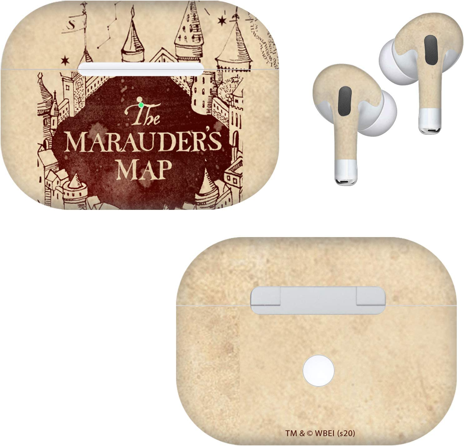 Head Case Designs Officially Licensed Harry Potter Marauder's Map Prisoner of Azkaban VII Matte Vinyl Sticker Skin Decal Cover Compatible with AirPods Pro