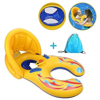 Amazon.com: totoose Madre y el bebé piscina Flotador ...
