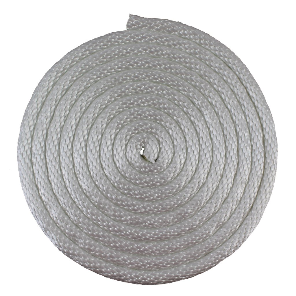 SGT KNOTS Solid Braid Nylon Rope 1/8'', 5/32'', 3/16'', 1/4'', 5/16'', 3/8'' (3/8'' x 500' - White)