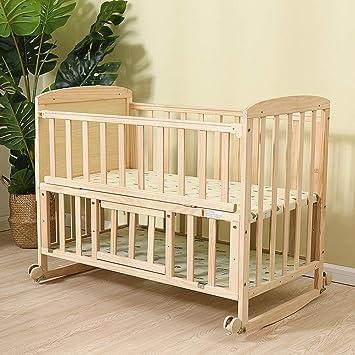 Amazon.com: JYXZ Cuna de madera maciza, cuna de bebé para ...