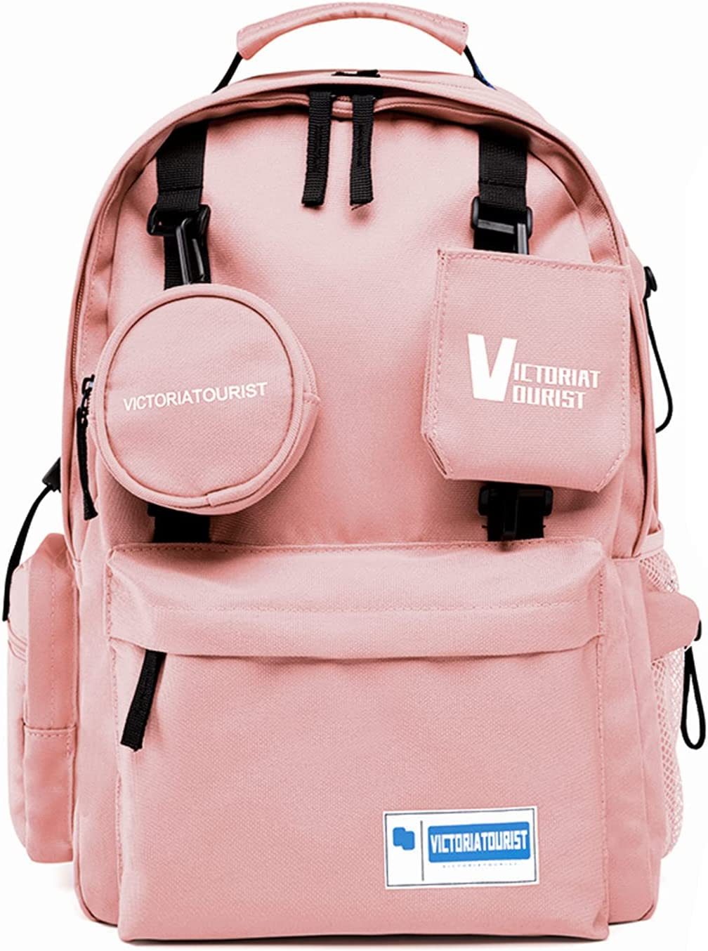 Backpack for Women Men, 14-15 Inch Water Resistant Travel Laptop Backpacks Computer Stylish Bag College School Student Gift, Bookbag Casual Hiking Daypack, Pink