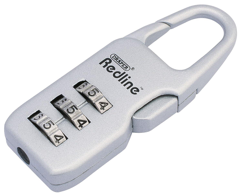 Draper Redline 68761 21 mm Aluminium Combination Padlock