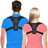 Posture Corrector for Men & Women by Comcl – USA Designed Upper Back Support Brace for Providing Pain Relief from Neck,Back, Shoulder and Bad Posture - Clavicle Support Brace for Slouching & Hunching