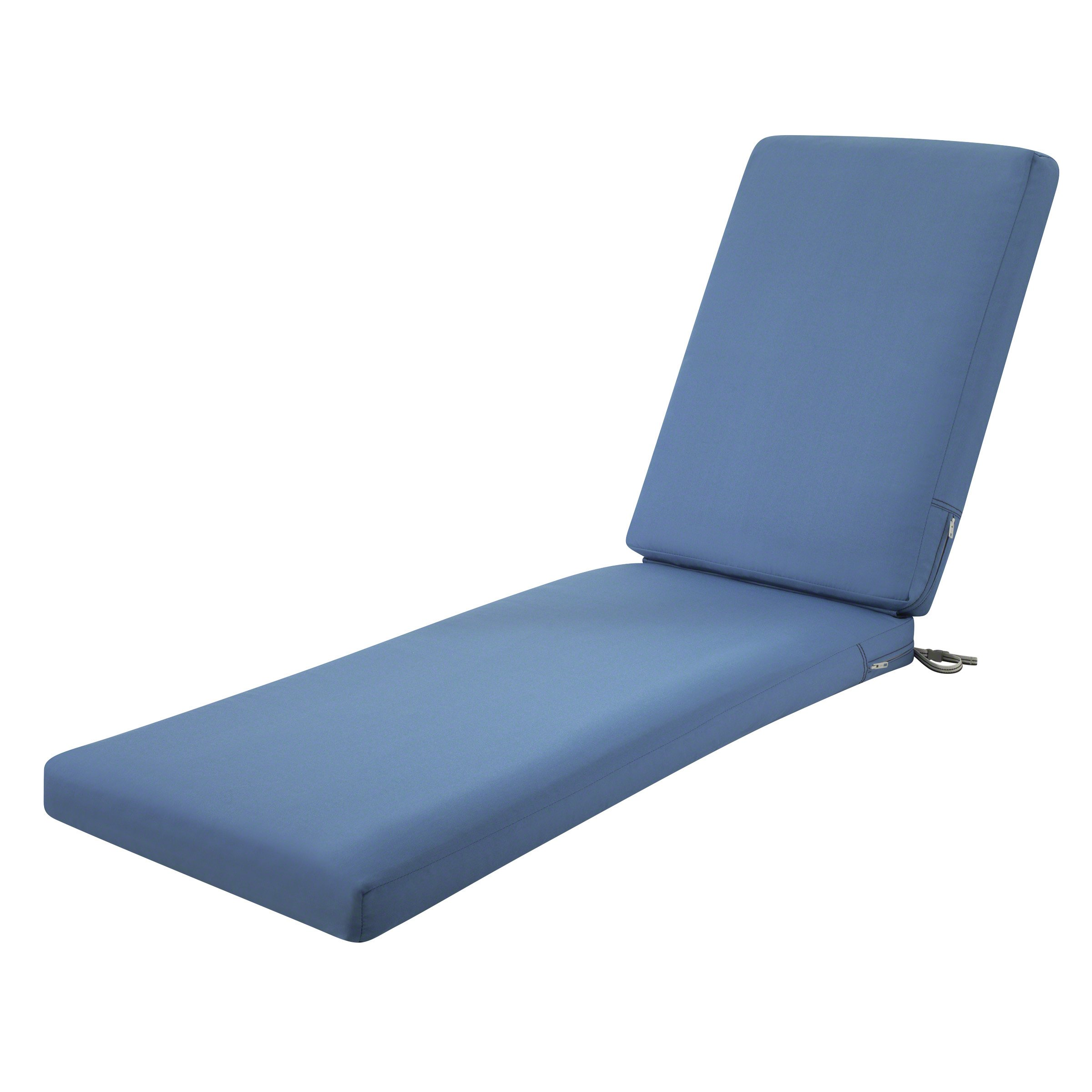 Classic Accessories Ravenna Outdoor Patio Chaise Lounge Cushion, Empire Blue, 72''L x 21''W x 3''T