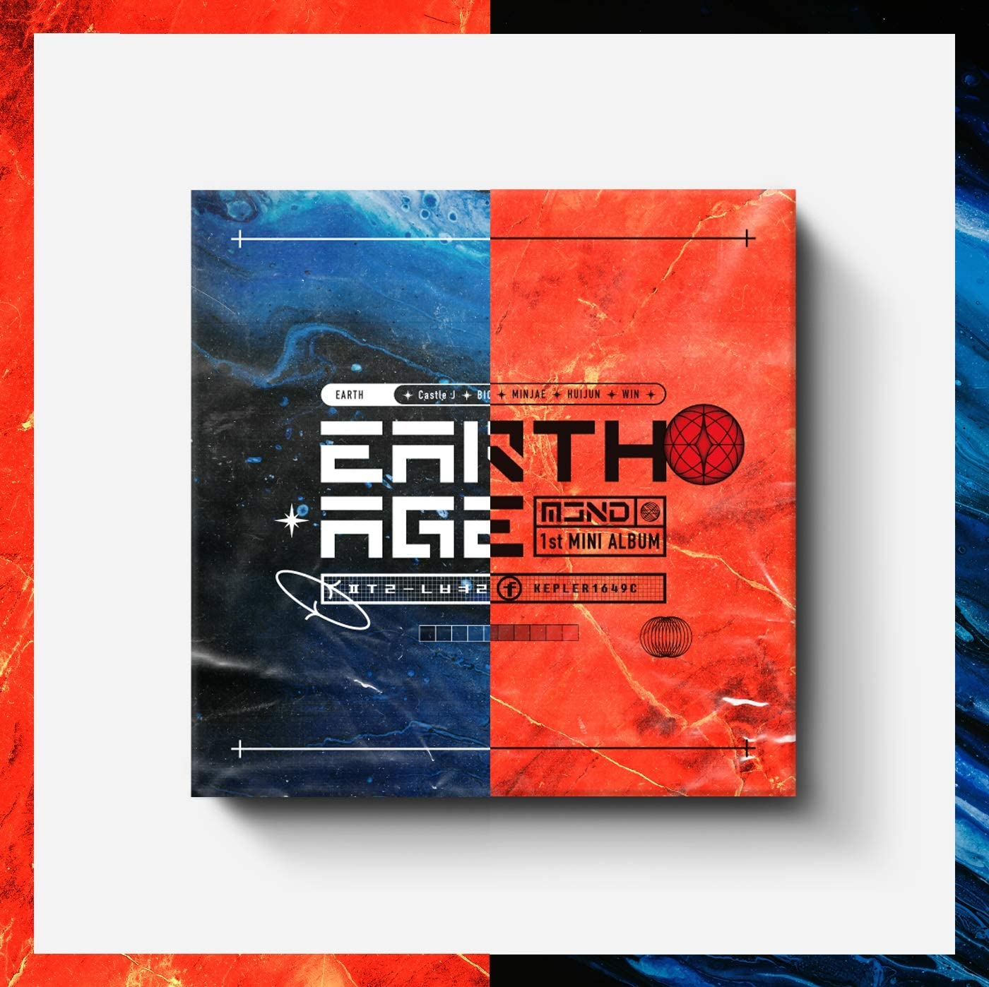 TOP Media MCND - Earth Age (1st Mini Album) Album+Folded Poster+Extra Photocards Set (Random ver.)