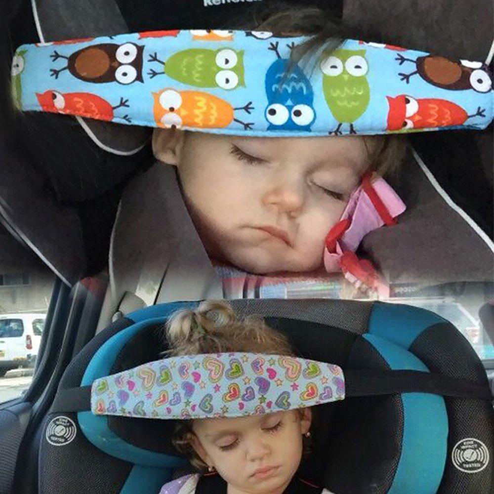 Seggiolino per auto per neonato Seggiolino per sonno Fascia per neonato Passeggino per passeggino Sollievo per nuca con posizionatore regolabile per bambino