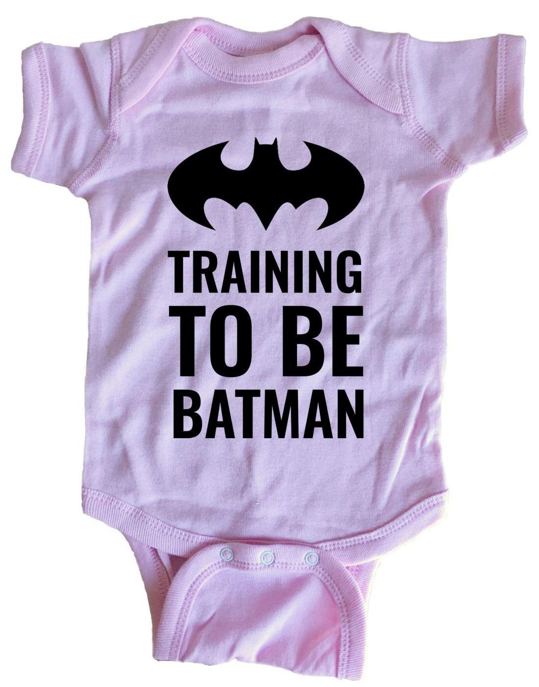 Brain Juice Tees Training to Be Batman Baby One Piece