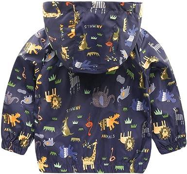 PAUBOLI Kids Windbreaker Graffiti Lightweight Jacket for Toddler Girls 1-7T