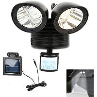 TOOGOO 22 LED Dual Security Detector Solar Spot Light Motion Sensor Outdoor Floodlight