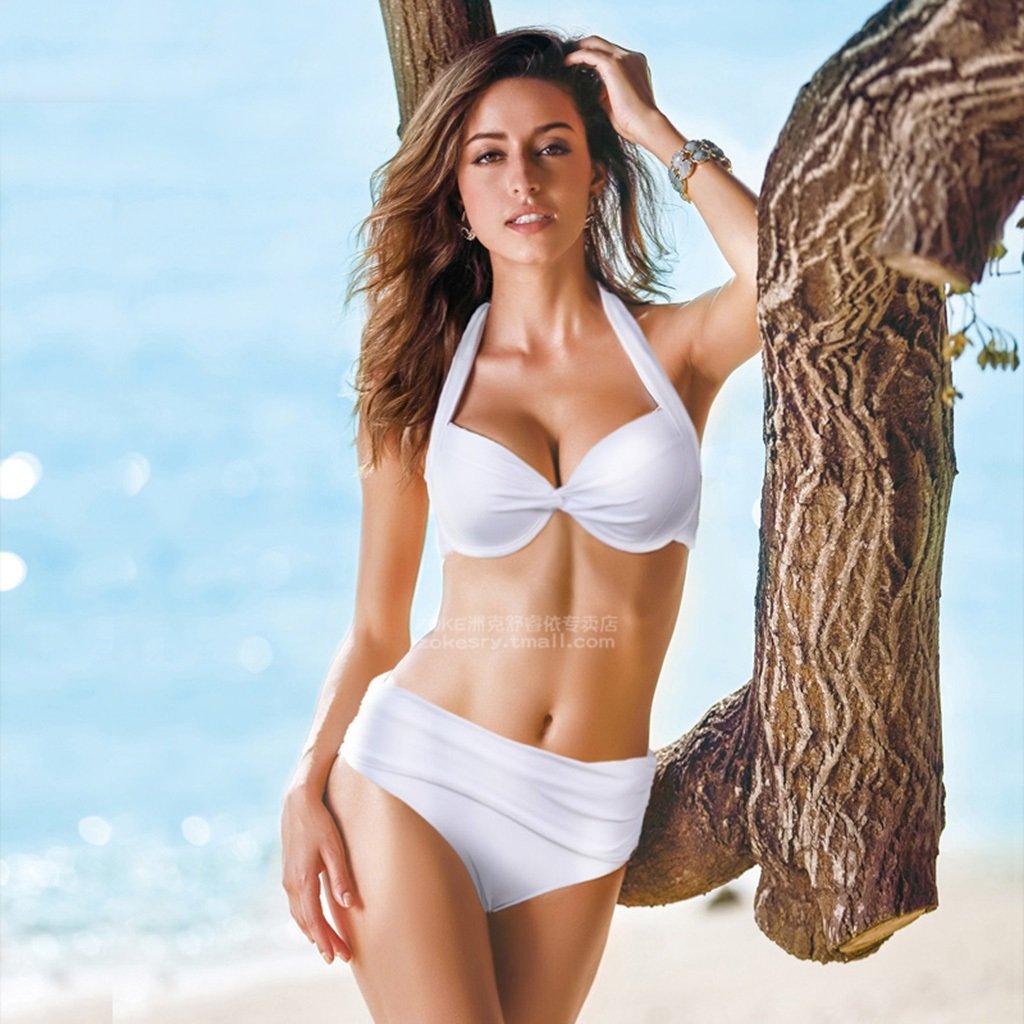 Bikini Kleine Truhe Gather Badeanzug Weibliche Zwei - Stück Anzug Sexy Big Thin Code Hot Spring Schwimmen Anzug