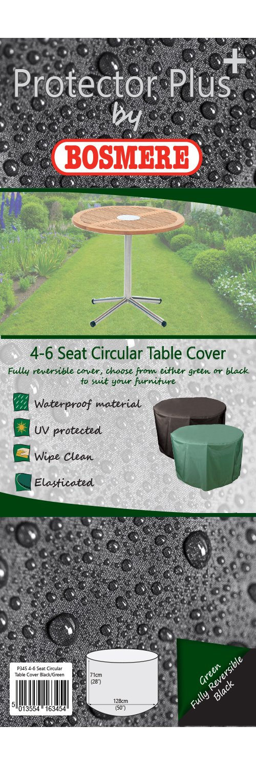 Bosmere 4 to 6 Seat Circular Round Table Cover Green C545