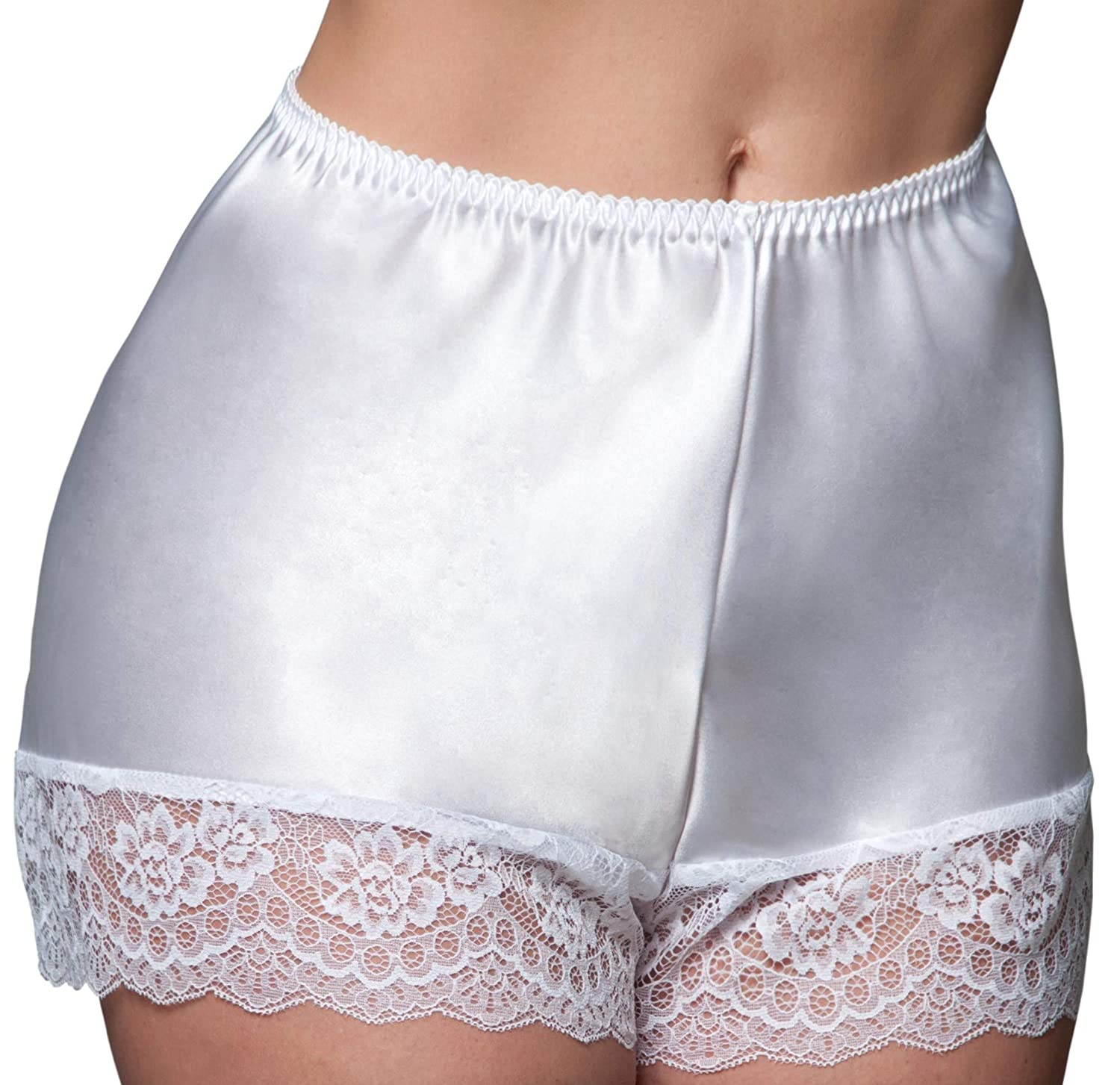 sale online new lower prices quality products Nancies Lingerie Luxury White Shiny Satin French Knickers (NLcami) [UK]