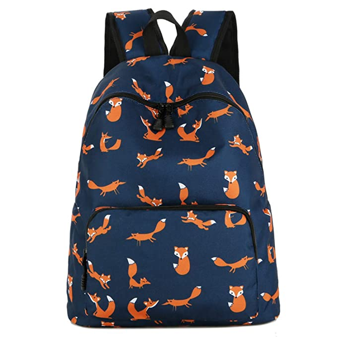 Amazon.com | laptop school bag bolsos unicornio printed backpacks women cute fox teenage bagpack for girlsbackpack 1, | Backpacks