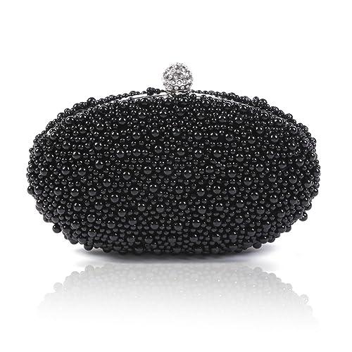 Damara Sac De Soirée Perle Etui Pour Femmes,Noir