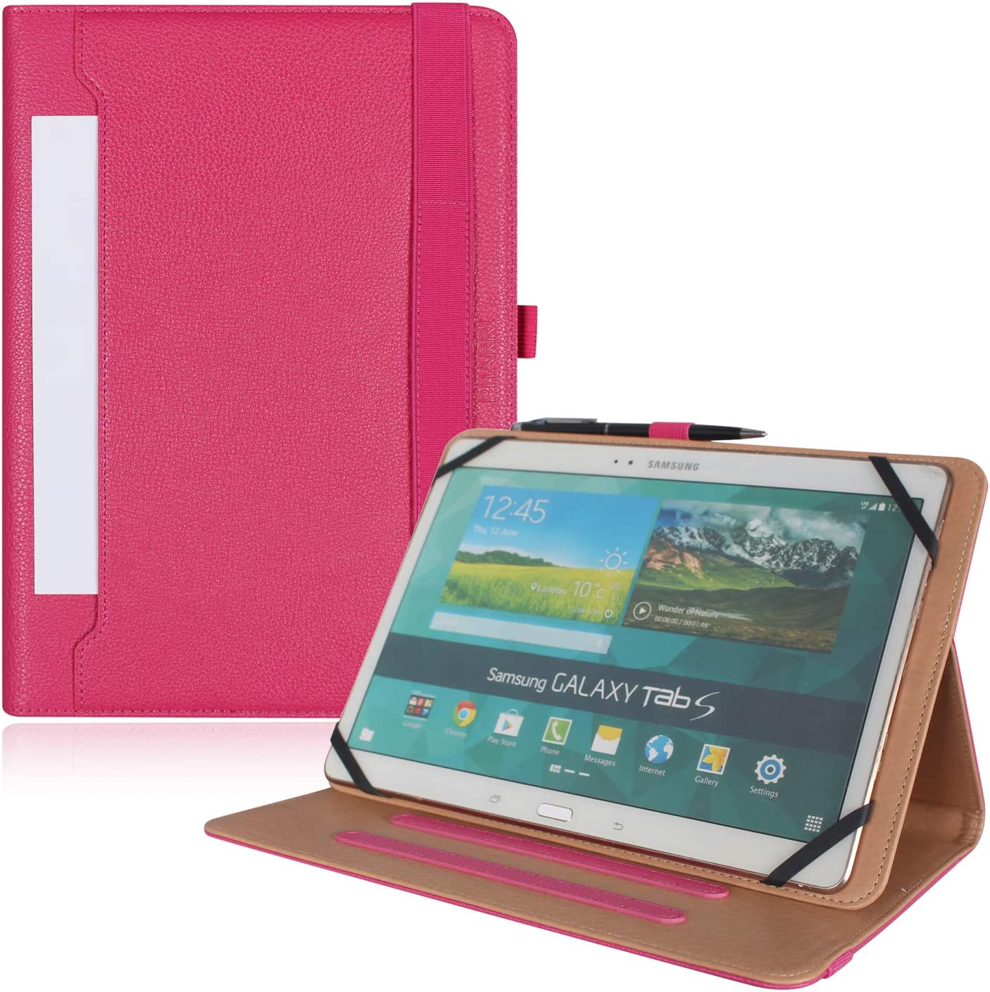 "PHARRI for 9"" -11"" Touch Tablet,Universal Document Card Pocket Case, Stand Folio Case Protective Cover"