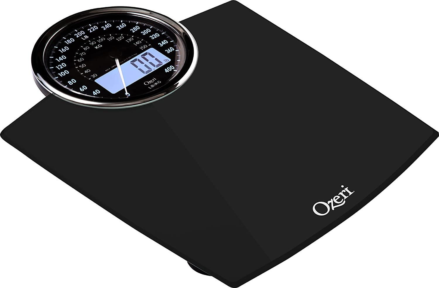 Digital Bathroom Scale with Electro-Mechanical Weight Dial