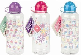 1 x niñas decorada bebidas deportes botella 600 ml- color en Random- comida.