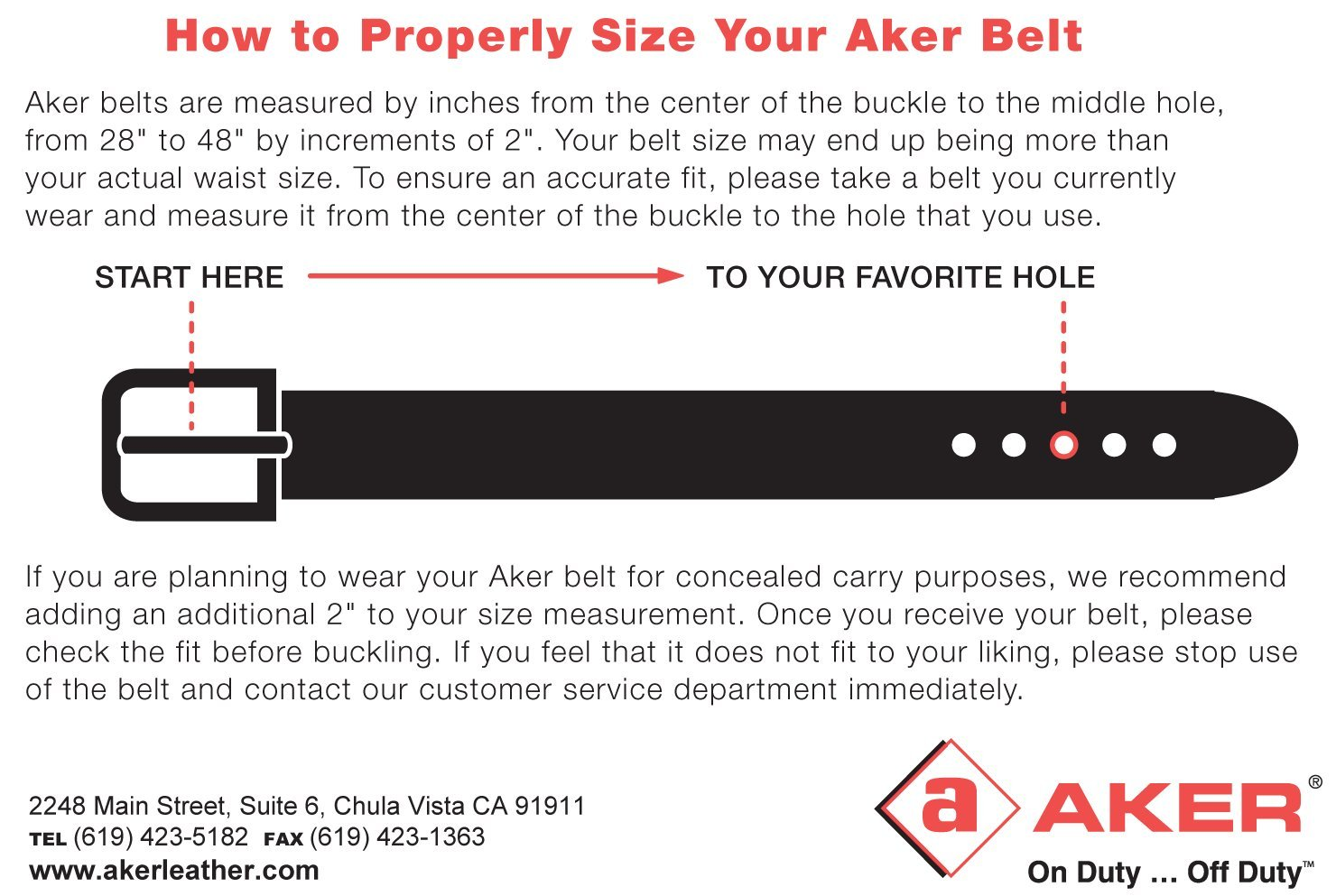 Aker Leather B21 1-1/2'' Concealed Carry Gun Belt