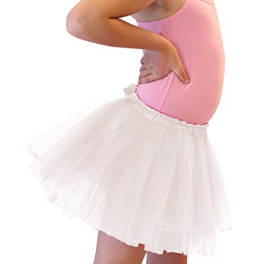 e3821962f2d0 Amazon.com  Girl Solid Ballet Dance Tutu for ages 2-10 (White)  Clothing
