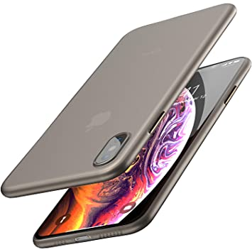 TOZO Funda para iPhone XS MAX, 6,5 Inch (2018) PP [0,35mm] Ultra Delgada Más Fina del Mundo Proteger El Estuche Rígido [Semi Transparente] Ligero ...