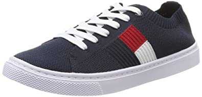 Tommy Hilfiger Women's Knitted Flag Lightweight Sneaker Low