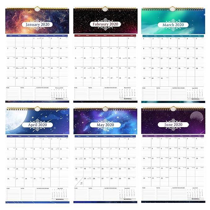 Amazon.com: Calendario 2019-2020 - Calendario mensual de ...