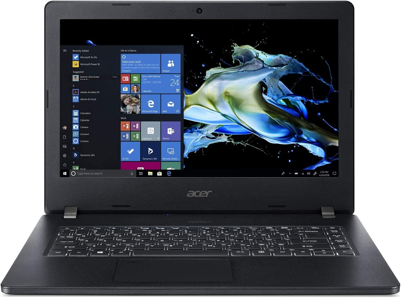 "Acer TravelMate P2 Business Laptop, 14"" FHD IPS, Intel Core i5-8250U, 8GB DDR4, 256GB SSD, 10 Hrs Battery, Win 10 Pro, TPM 2.0, Mil-Spec, Fingerprint Reader, TMP214-51-55FM"