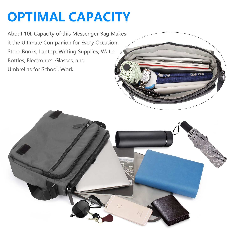 Laptop Messenger Bag  EKOOS Laptop Shoulder Bag Water Resistant Briefcase  Crossbody Day Bag for Work University Travel Sport 14 inch  Amazon.ca   Electronics 41a8dbaedd4cf