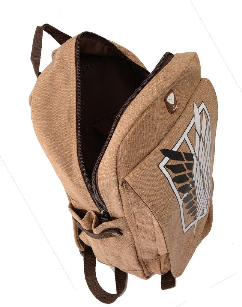 Attack on Titan Cosplay Backpack Shingeki No Kyojin School Bag Khaki