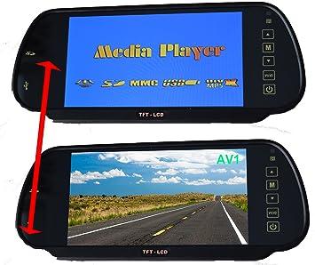 Cocar 7 Auto Mp5 Sd Usb Sticker Spieler Rückspiegel Elektronik