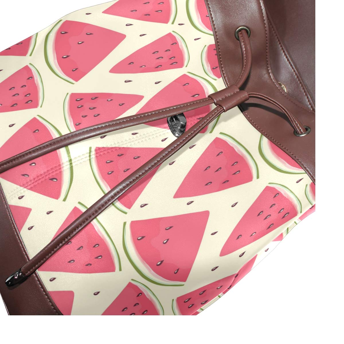 Amazon.com: FAJRO Seamless Watermelon Leather Backpack ...