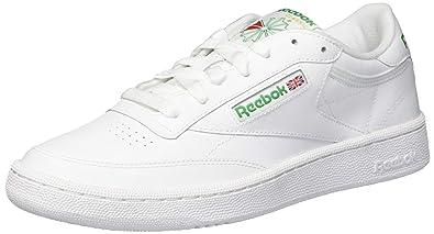 Reebok Men's Club C 85 Sneaker, ChalkPaper WhiteGlen Green, 13 M US