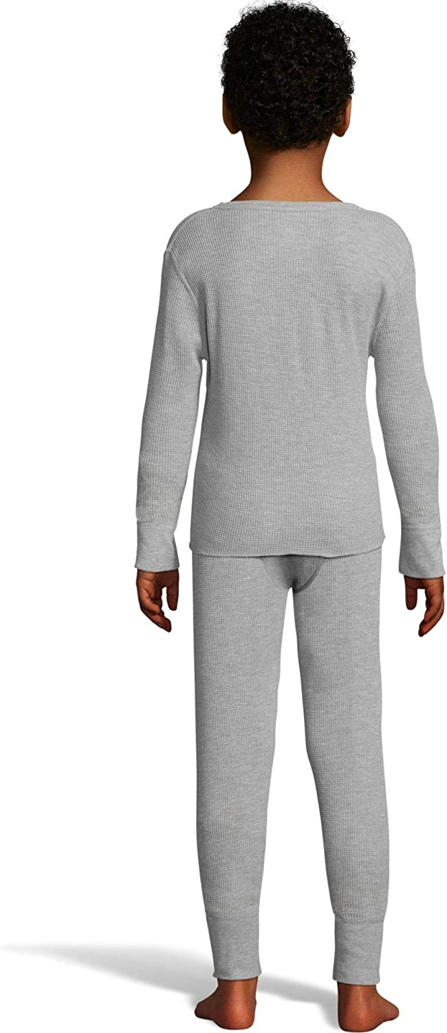 Hanes Boys Waffle Knit Thermal Set with FreshIQ X-Temp Technology /& Organic Cotton