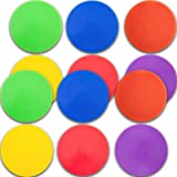 6/12pcs Spot Markers 9/10 Inch Floor dots Non-Slip Rubber Agility Markers for Football, Basketball Training Markers…
