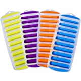 Ozera Set of 4 Silicone Ice Stick Cube Trays, Water Bottle Ice Stick Tray Ice Cube Tray with Easy Push and Pop Out Material,