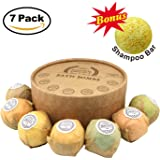All Natural Ingredients Bath Bomb Gift Set, 7 Pack Aromatherapy SPA Kit, Bath Bombs with Pure Essential Oil