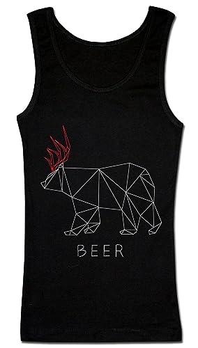 Deer And Bear Hybrid - Beer Funny Design Camiseta sin mangas para mujer