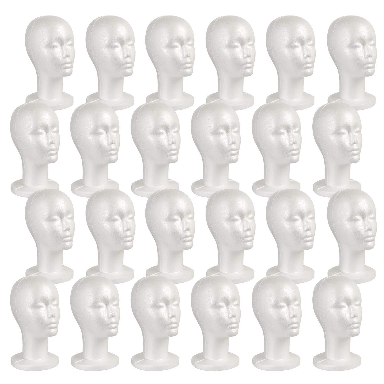 Styrofoam Foam Mannequin Wig Head Display Hat Cap Wig Holder White Z1X5 2X 2X