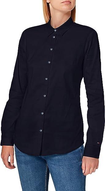 Tommy Hilfiger Amy Str Shirt LS W1 Camisa, Azul (Night Sky ...