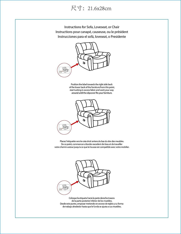 Amazon Com Fancy Linen Sure Fit Stretch Sterling Recliner  # Le Font Muebles