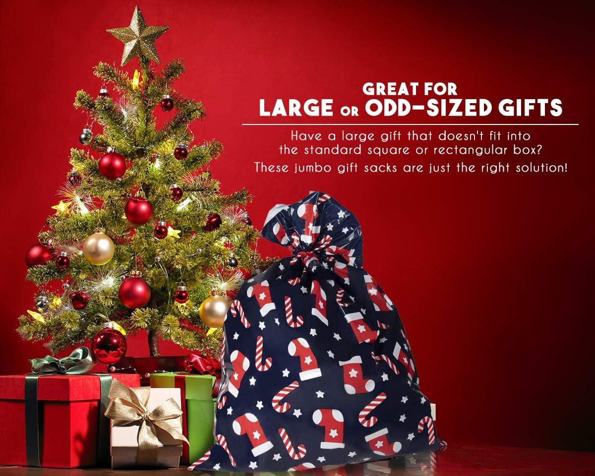 2 Giant Plastic Christmas Sacks