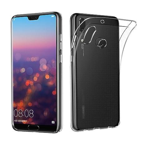 best service 7718f 417d7 Huawei P20 Lite Case, AVIDET Shock-Absorption, Anti-Scratch Soft Gel TPU  Silicone Case Cover for Huawei P20 Lite (Transparente)