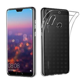 best service c782d d9991 Huawei P20 Lite Case, AVIDET Shock-Absorption, Anti-Scratch Soft Gel TPU  Silicone Case Cover for Huawei P20 Lite (Transparente)