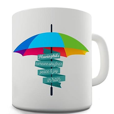 TWISTED ENVY Trenzado Envy pluviophile definición de cerámica taza divertida