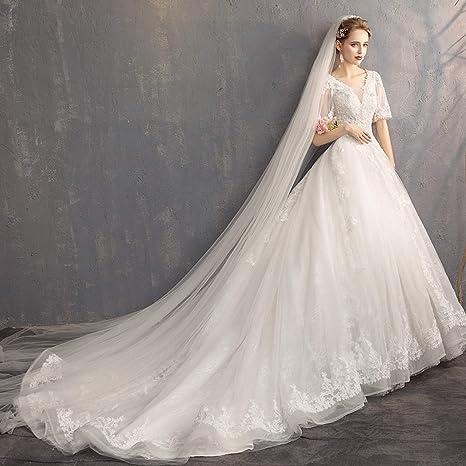 Abiti Da Sposa Francesi.Yunding Nuovo Abito Da Sposa Bianco Avorio Vestito Ballo