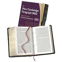 New Cambridge Paragraph Bible with Apocrypha, Black Calfskin Leather, KJ595:TA Black...
