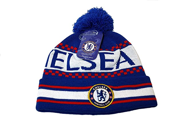 bbc3407a7ed Chelsea Official FC Football Soccer Men s Peruvian Beanie Ski Hat One Size  Blue