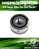For Dirt Devil F15 HEPA Vacuum Filter (compares to 3SS0150001). Genuine Green Label Product.