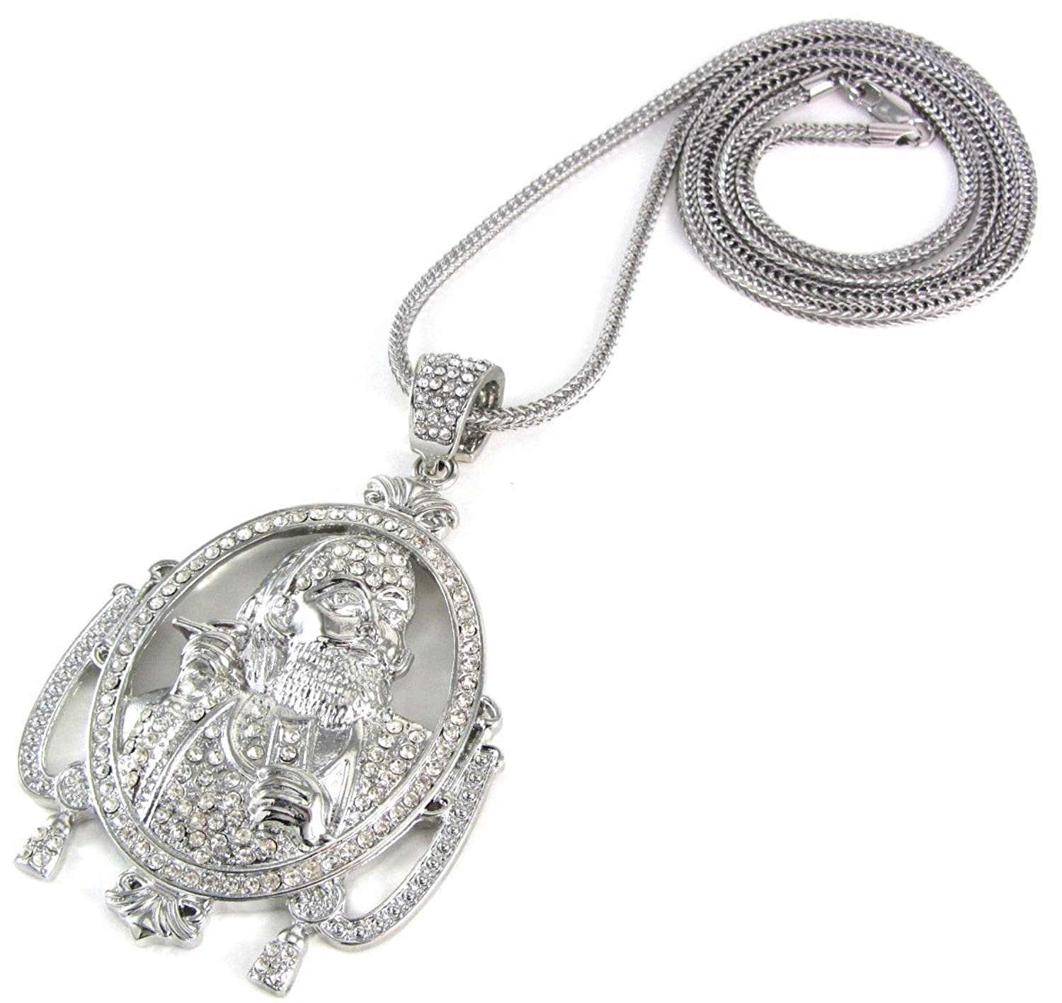 pave in clef necklace rhinestones lovers treble music silvertone itm new pendant